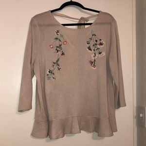 Lauren Conrad blouse with beading and embroidery